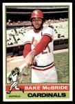 1976 O-Pee-Chee #135  Bake McBride  Front Thumbnail