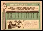 1976 O-Pee-Chee #186  Tom Walker  Back Thumbnail