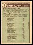 1976 O-Pee-Chee #1   -  Hank Aaron Record Breaker Back Thumbnail