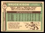 1976 O-Pee-Chee #161  Bruce Kison  Back Thumbnail