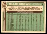 1976 O-Pee-Chee #223  Ollie Brown  Back Thumbnail