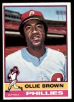 1976 O-Pee-Chee #223  Ollie Brown  Front Thumbnail