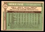 1976 O-Pee-Chee #134  Mike Ivie  Back Thumbnail