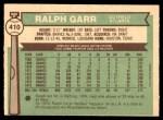 1976 O-Pee-Chee #410  Ralph Garr  Back Thumbnail