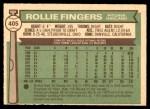 1976 O-Pee-Chee #405  Rollie Fingers  Back Thumbnail