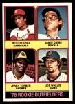 1976 O-Pee-Chee #598   -  Hector Cruz / Jamie Quirk / Jerry Turner / Joe Wallis Rookie Outfielders   Front Thumbnail
