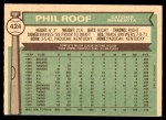 1976 O-Pee-Chee #424  Phil Roof  Back Thumbnail