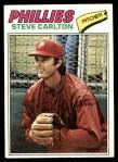 1977 Topps #110  Steve Carlton  Front Thumbnail