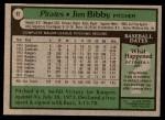 1979 Topps #92  Jim Bibby  Back Thumbnail