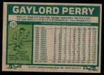 1977 Topps #152  Gaylord Perry  Back Thumbnail