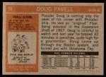 1972 Topps #74  Doug Favell  Back Thumbnail