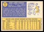 1970 Topps #107  Bobby Etheridge  Back Thumbnail