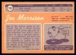 1970 Topps #105  Joe Morrison  Back Thumbnail