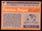 1970 Topps #128  Emerson Boozer  Back Thumbnail