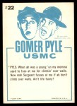1965 Fleer Gomer Pyle #22   Guess the Sergeant Was Right Back Thumbnail