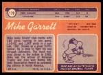1970 Topps #179  Mike Garrett  Back Thumbnail