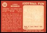 1958 Topps #50  Larry Morris  Back Thumbnail