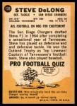 1967 Topps #128  Steve DeLong  Back Thumbnail