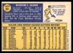 1970 Topps #301  Chico Salmon  Back Thumbnail