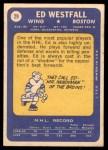 1969 Topps #29  Ed Westfall  Back Thumbnail