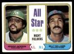 1974 Topps #338   -  Reggie Jackson / Billy Williams All-Star Right Fielders   Front Thumbnail