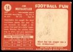 1958 Topps #14  Jim Mutscheller  Back Thumbnail
