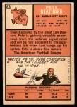 1966 Topps #63  Pete Beathard  Back Thumbnail
