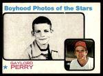 1973 Topps #346   -  Gaylord Perry  Boyhood Photo Front Thumbnail