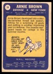 1969 Topps #34  Arnie Brown  Back Thumbnail