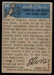 1956 Topps / Bubbles Inc Elvis Presley #14   Down on the Farm Back Thumbnail