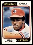 1974 Topps #200  Cesar Cedeno  Front Thumbnail