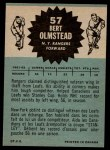 1962 Topps #57  Bert Olmstead  Back Thumbnail