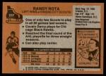 1975 Topps #237  Randy Rota   Back Thumbnail