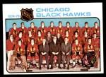 1975 Topps #84   Blackhawks Team Checklist Front Thumbnail