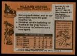 1975 Topps #62  Hilliard Graves   Back Thumbnail