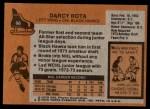 1975 Topps #66  Darcy Rota   Back Thumbnail