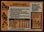 1975 Topps #309  Pierre Plante   Back Thumbnail