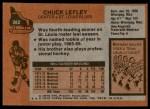 1975 Topps #282  Chuck Lefley   Back Thumbnail