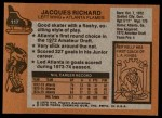 1975 Topps #117  Jacques Richard   Back Thumbnail