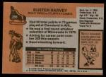 1975 Topps #298  Buster Harvey   Back Thumbnail