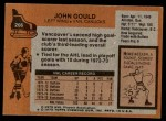 1975 Topps #266  John Gould   Back Thumbnail