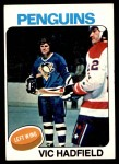 1975 Topps #165  Vic Hadfield   Front Thumbnail