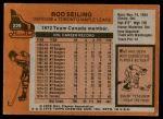 1975 Topps #229  Rod Seiling   Back Thumbnail