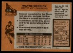 1975 Topps #228  Wayne Merrick   Back Thumbnail