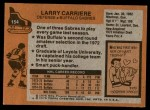 1975 Topps #154  Larry Carriere   Back Thumbnail