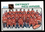 1975 Topps #87   Red Wings Team Checklist Front Thumbnail