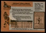 1975 Topps #106  Dwight Bialowas   Back Thumbnail