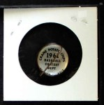 1961 Cranes Potato Chip Pin #20   Yankee Fan Back Thumbnail