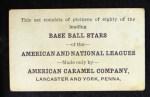 1921 E121-80 American Caramel  P.J. Kilduff  Back Thumbnail