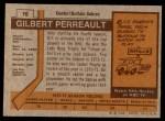 1973 Topps #70  Gilbert Perreault   Back Thumbnail